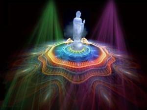 standing light buddha