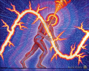 Alex Grey - Lightning man