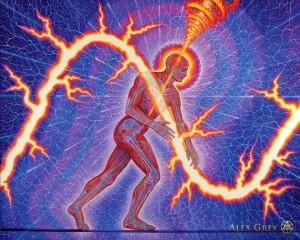 Alex Grey - Lightning man