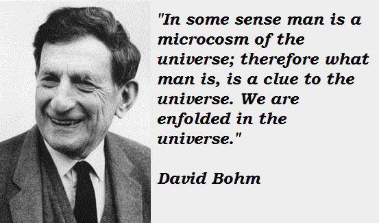 David Bohm Enfoldment Universe microcosm