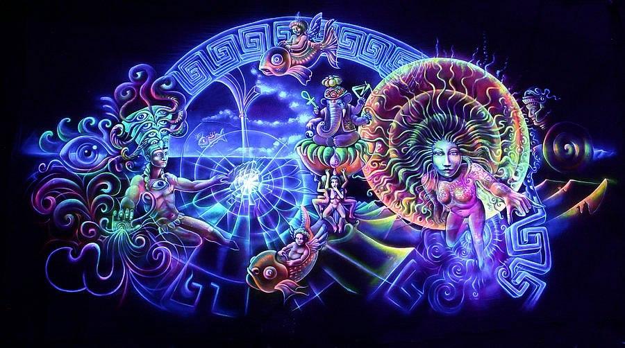 Psychedelic Shaman digital Mayan Art
