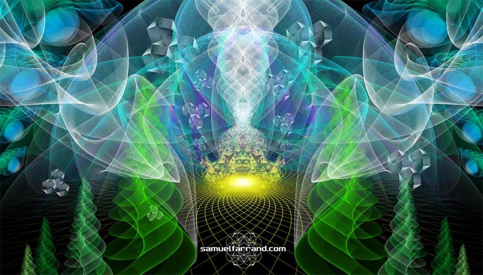 samuel farrand - green abstract