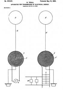 tesla wireless patent Dollard