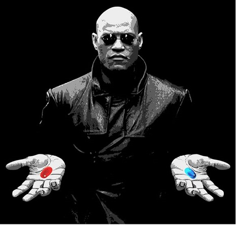 Image result for blue pill or red pill