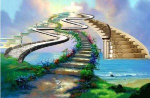Pathway stairs afterlife